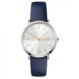 Lacoste Women's Moon Navy Blue Leather Strap Watch